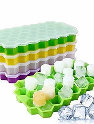 cheap -Silicon Ice Cube Tray and Mold with 37 Grids 1 Pc