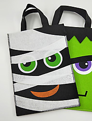 cheap -Halloween Party Toys Non-woven Bags Halloween Gift Bags 2 pcs Cartoon Mummy Hulk with Handles Non-woven Fabrics Kid's Adults Trick or Treat Halloween Party Favors Supplies