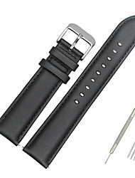 cheap -Genuine Leather / Leather / Calf Hair Watch Band Black Other / 19cm / 7.48 Inches 1.6cm / 0.6 Inches / 1.8cm / 0.7 Inches / 2cm / 0.8 Inches