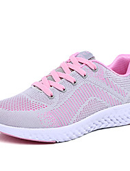 cheap -Women's Trainers Athletic Shoes Flat Heel Round Toe Daily Outdoor Mesh Black Fuchsia Gray