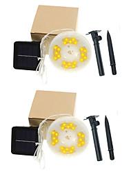 cheap -2x10M 200 LEDs Casing Waterproof String Lights 8 Mode Control  2Set Mounting Bracket  Warm White White RGBWarm Waterproof Outdoor Solar Garden Light Solar Powered  Plug Lights In The Courtyard 2 set