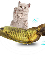 cheap -Cat Toys Set Rodents Cat Kitten Pet Toy 1pc Fish Rechargeable Pet Friendly Electronic Reusable Pet Training Polyester Cotton Gift