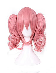 cheap -Cosplay Costume Wig Synthetic Wig Cosplay Wig Lolita Curly Cosplay Lolita With 2 Ponytails Wig Pink Medium Length Blonde Pink Orange Synthetic Hair 20 inch Women's Cosplay Pink hairjoy