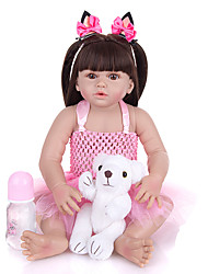 cheap -KEIUMI 22 inch Reborn Doll Baby & Toddler Toy Reborn Toddler Doll Baby Girl Gift Cute Washable Lovely Parent-Child Interaction Full Body Silicone 23D125-C302-H149-T19 with Clothes and Accessories for