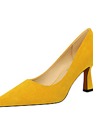cheap -Women's Heels Fall / Winter Stiletto Heel Pointed Toe Minimalism Office & Career Solid Colored Patent Leather Black / Yellow / Red