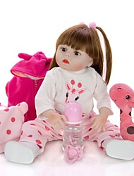cheap -KEIUMI 19 inch Reborn Doll Baby & Toddler Toy Reborn Toddler Doll Baby Girl Gift Cute Washable Lovely Parent-Child Interaction Full Body Silicone 19D15-C348-H01-S08-T05 with Clothes and Accessories