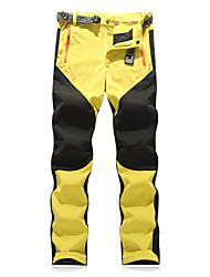 cheap -Men's Hiking Pants Patchwork Outdoor Regular Fit Waterproof Breathable Quick Dry Ultra Light (UL) Pants / Trousers Camping / Hiking / Caving Traveling Black Yellow Red S M L XL XXL