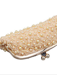 cheap -Women's Bags Synthetic Evening Bag Pearls Crystals Wedding Bags Party Event / Party Champagne