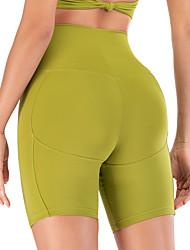 povoljno -Žene Kratke Hlače za jogu Kratke hlače Kontrola trbuščića Butt Lift Prozračnost Crn Bijela Plava Elastan Yoga Fitness Trening u teretani Sportski Odjeća za rekreaciju Rastezljivo