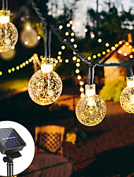cheap -12M 100LED Solar LED Light String Crystal Ball Bubble Lamp Fairy String Lights 8 Function Outdoor Waterproof For Wedding Garden Lawn Christmas Decoration Solar Lamp