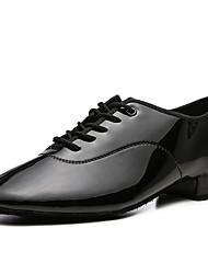 cheap -Men's Dance Shoes Modern Shoes Heel Thick Heel White Black