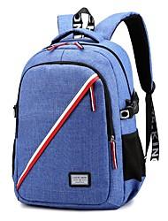 povoljno -Velika zapremnina Oxford tkanje Patent-zatvarač ruksak Prugasti uzorak Sport & otvorenom Crn / Plava / Red