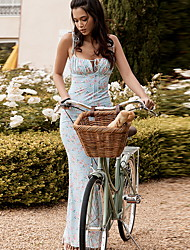 cheap -Women's Strap Dress Maxi long Dress - Sleeveless Floral Summer Strapless Elegant 2020 Blue S M L