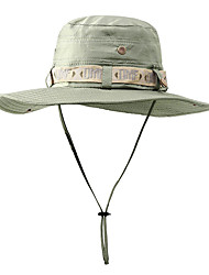 cheap -Fishing Sun Boonie Hat Waterproof Summer UV Protection Cap Outdoor Hunting Hat Outdoor Windproof Sunscreen UV Resistant Breathable Solid Color Nylon Dark Green Khaki Green for Camping Hiking Hunting