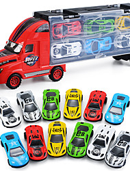 cheap -Vehicle Playset Construction Truck Toys Transport Car Toy Simulation Plastic Alloy Mini Car Vehicles Toys for Party Favor or Kids Birthday Gift Includes 12pcs Toy Cars 1+12 pcs / Kid's