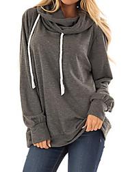 cheap -Women's Pullover Hoodie Sweatshirt Solid Colored Casual Hoodies Sweatshirts  Loose Black Blue Wine