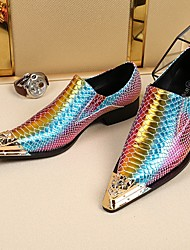 cheap -Men's Loafers & Slip-Ons Dress Shoes Daily Party & Evening Cowhide Handmade Purple Summer