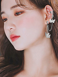 cheap -Women's Drop Earrings Ear Cuff Classic Animal Stylish Simple Elegant Sweet Cute Earrings Jewelry Silver For Gift Prom Date Vacation Festival 1 Pair