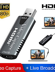 cheap -HDMI Adapter Video Capture Card USB 2.0 DVD Camcorder HD Camera Recording Live Streaming