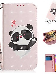 cheap -Case For Samsung Galaxy S20 Galaxy S20 Plus Galaxy S20 Ultra Wallet Card Holder with Stand Full Body Cases Caring Panda PU Leather TPU for Galaxy A51 A71 A70E A81 A91 A11 A31 A41 A21