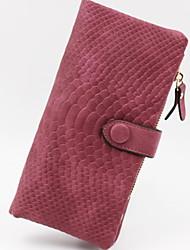 cheap -Women's Zipper PU Leather Wallet 2020 Black / Blue / Purple