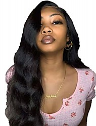 cheap -Remy Human Hair Wig Medium Length Long Body Wave Side Part Natural Women Sexy Lady New U Part Brazilian Hair Women's Natural Black #1B 16 inch 18 inch 20 inch