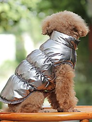 cheap -Dog Coat Puppy Clothes Cosplay Outdoor Winter Dog Clothes Puppy Clothes Dog Outfits Golden Silver / Gray Black Costume for Girl and Boy Dog Cotton XS S M L XL XXL