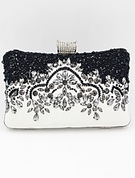 cheap -Women's Crystals / Beading PU Leather Evening Bag 2020 Black
