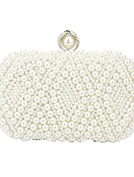 cheap -Women's Bags Synthetic Evening Bag Pearls Crystals Wedding Bags Party Event / Party Beige