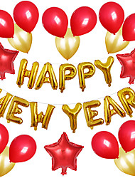 cheap -Party Balloons 30 pcs Happy New Year Party Supplies Latex Balloons Boys and Girls Party Decoration 12-18inch for Party Favors Supplies or Home Decoration