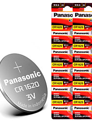 cheap -10 PCS CR1620 Button Battery cr1620 ECR1620 GPCR1620 3v Lithium Battery for Remote Key Automatic Watch