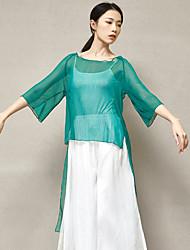 cheap -Ballet Top Split Women's Training Performance 3/4 Length Sleeve High Polyester