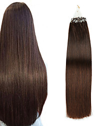 cheap -Micro Ring Hair Extensions Hair Extensions Human Hair 50 pcs Pack Straight Hair Extensions