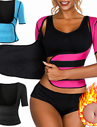 cheap -Waist Trainer Vest Body Shaper Sweat Waist Trainer Corset Sports Neoprene Yoga Gym Workout Pilates Adjustable Weight Loss Tummy Fat Burner Hot Sweat For Women