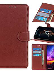 cheap -Case For  LG Stylo 4 Q Stylus G8 ThinQ G8 V50 ThinQ 5G V50 G8S ThinQ G8S Q60 stylo5 6 W10 W30 Q70 V60 ThinQ 5G G9 Card Holder Flip Magnetic Full Body Cases Solid Colored PU Leather TPU Vintage Litchi