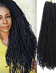 cheap -Faux Locs Dreadlocks Sister Locs Box Braids Natural Black Synthetic Hair 16 inch Medium Length Braiding Hair 80 roots / pack