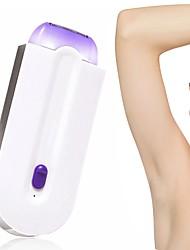 cheap -2 in 1 Electric Epilator Women Hair Removal Painless Women Hair Remover Shaver Instant Painless Free Sensor Light USB Recharge