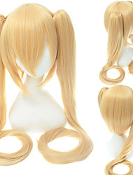 cheap -Cosplay Costume Wig Cosplay Wig Miku Straight With 2 Ponytails With Bangs Wig Long A15 A16 A19 A21 A22 Synthetic Hair 48 inch Women's Anime Cosplay Creative Blue Green