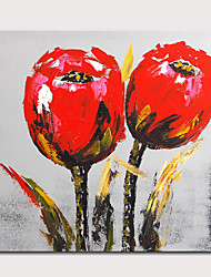 cheap -Mintura Hand Painted Abstract Flowers Oil Paintings On Canvas Modern Pop Art Wall Picture For Home Decoration Ready To Hang