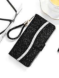 cheap -Case for Huawei P  30 30lite 30pro 40 40lite 40pro Card Holder Magnetic Full Body Cases Glitter Shine PU Leather