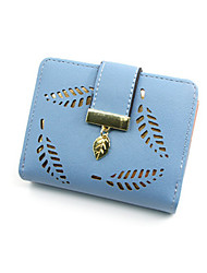 cheap -Women's Hollow-out PU Leather Wallet Black / Blue / Almond