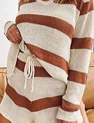 cheap -Women's Basic Sweater Striped Pant