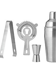cheap -550ml Cocktail Shaker Mixer Set of 5 with Strainer Jigger Bar Spoon Ice Tong and Ice Strainer