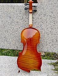 cheap -Natural Color Tiger Stripes Violin Common Jujube Accessories + + Bow Rosin + Foam Boxes