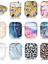 cheap -Case For AirPods 1 2 Ultra-thin Pattern Headphone Case Soft TPU MAGIC QUICKSAND INK KALA LEOPARD