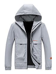 cheap -Men's Jacket Daily Sports Basic Chinoiserie Regular Letter Black / Gray US32 / UK32 / EU40 / US34 / UK34 / EU42 / US36 / UK36 / EU44