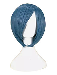 cheap -Cosplay Costume Wig Synthetic Wig Cosplay Wig Sebastian Michaelis Black Butler Straight Cosplay Bob Wig Short Rose Gold Blue Black Red Orange Synthetic Hair 12 inch Men's Cosplay Synthetic Blue