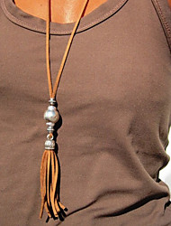 cheap -Women's Long Necklace Tassel Fashion Trendy Boho Alloy Silver 93 cm Necklace Jewelry For