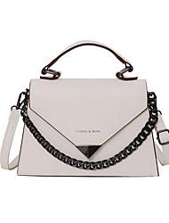 cheap -Women's PU Leather Top Handle Bag Handbags White / Black / Blue