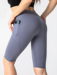 povoljno -Žene Kratke Hlače za jogu Džep Kratke hlače Kontrola trbuščića Butt Lift Prozračnost Crn purpurna boja Crvena Yoga Fitness Trening u teretani Sportski Odjeća za rekreaciju Rastezljivo